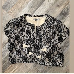 Black & White Cropped Blazer